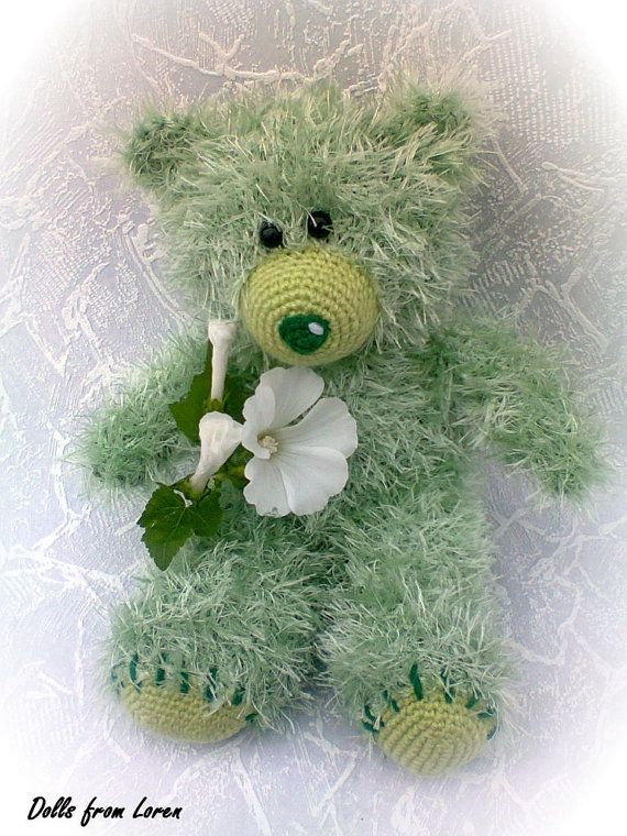 Emerald Hand knitted Teddy Bear  by LorensDolls on Etsy  #Bears  #Handknitted  #TeddyBear  #knitted   #knitting #stuffedbear  #knittedtoys  #beargift  #handknittedtoy  #handmadegift  #birthdaygift  #uniquegift  #LorensDolls