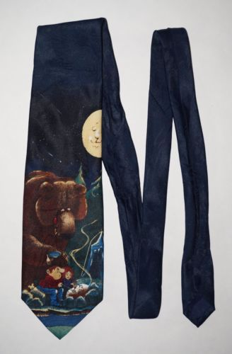 Balancine-Hot-Cakes-Gary-Patterson-Appetizers-Bear-Camping-Moon-Neck-Tie-58-034-L