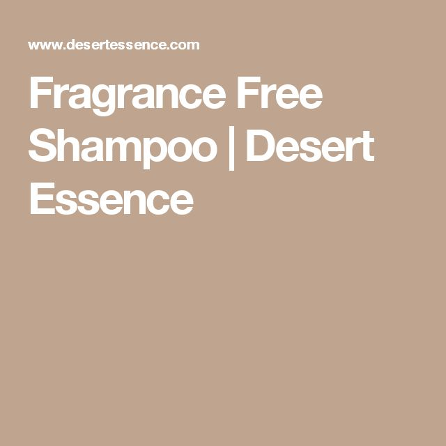 Fragrance Free Shampoo   Desert Essence