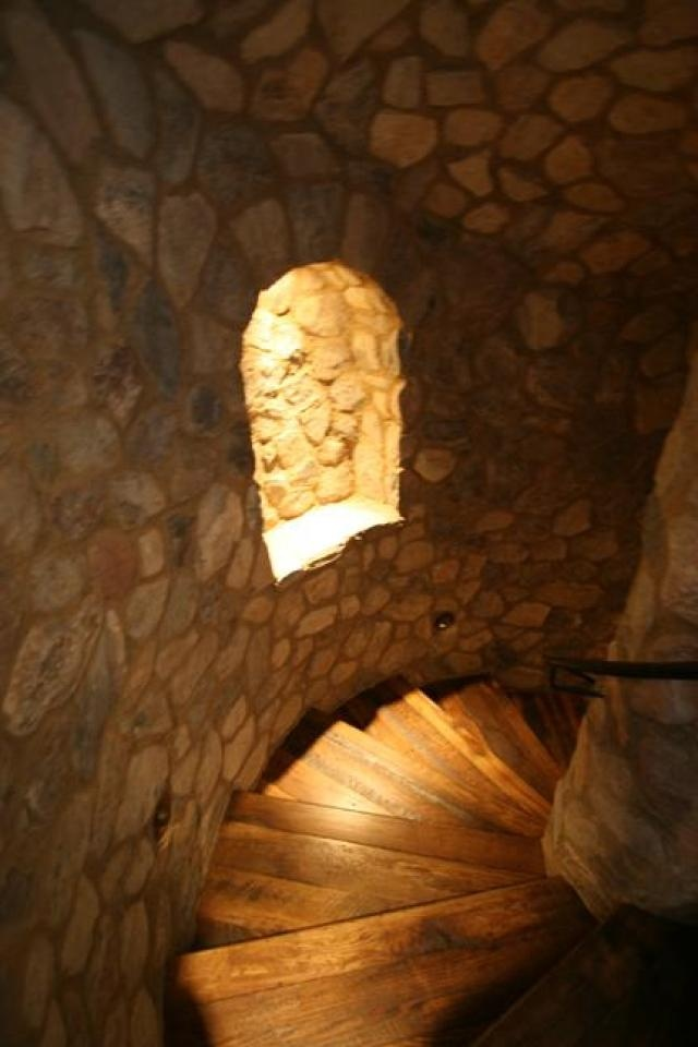 stairs to the wine cellar