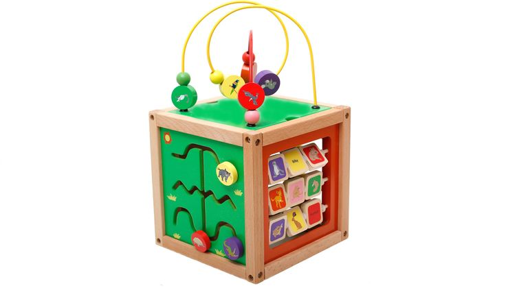 The Super Cube made from beech wood with aussie animals from DiscoveroO. www.discoveroo.com