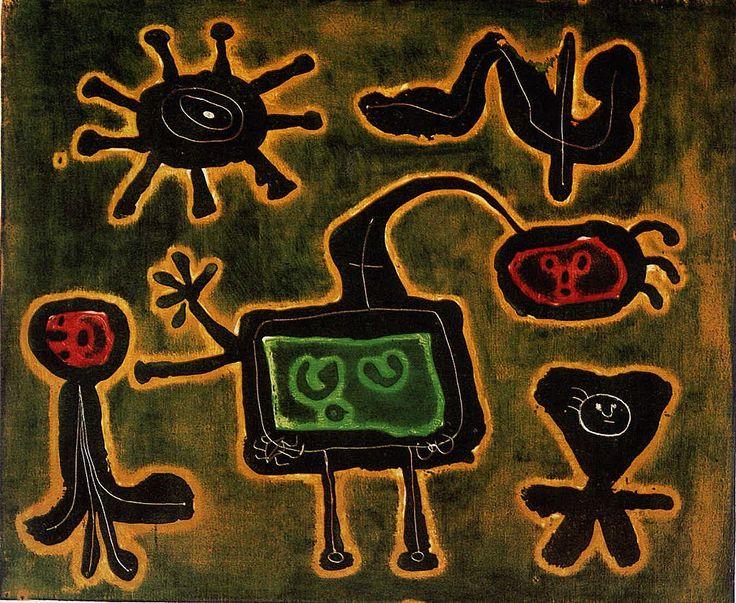 Joan Miro Most Famous Painting | Series I - Joan Miro - WikiPaintings.org
