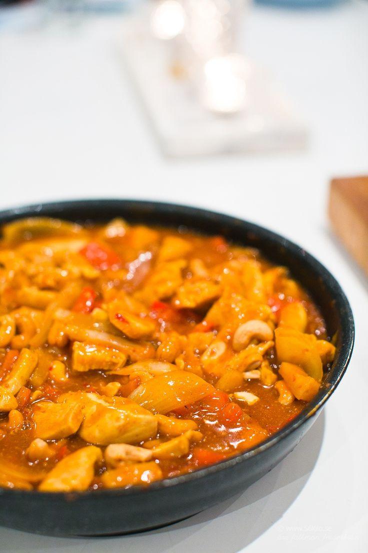 LCHF - Low Carb, Ananas kyckling i sötsursås