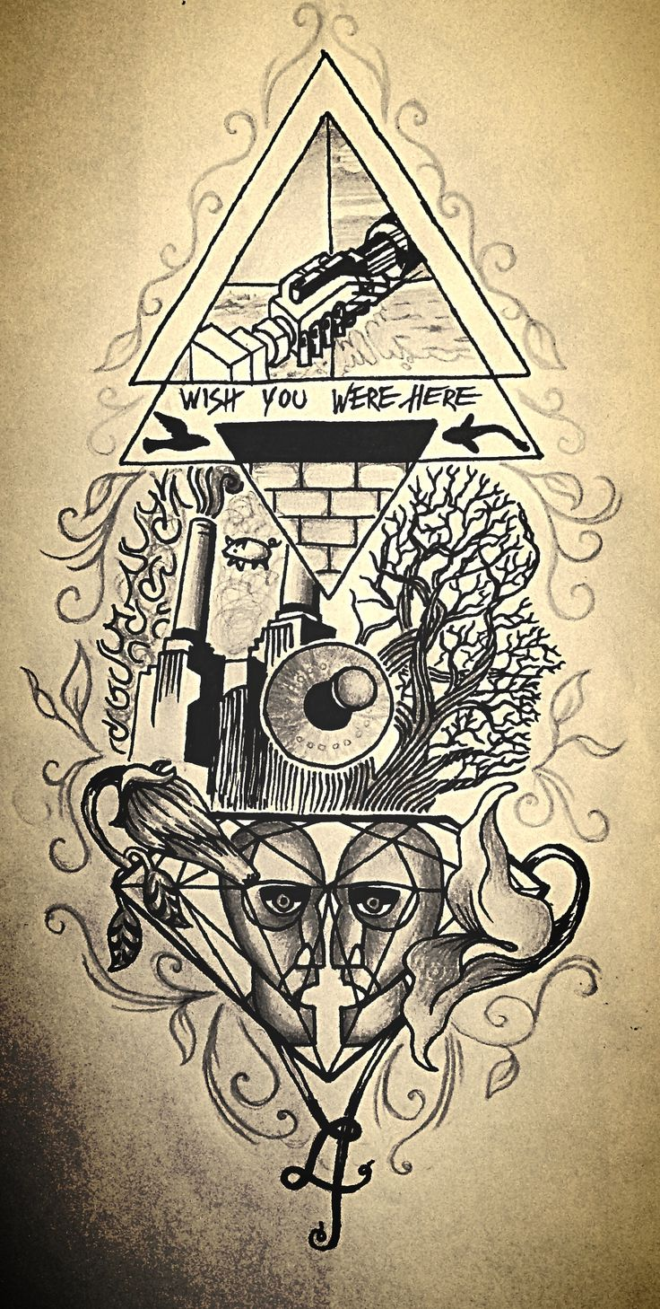 Pink Floyd tattoo idea - Jasmijn Beije Please do not copy