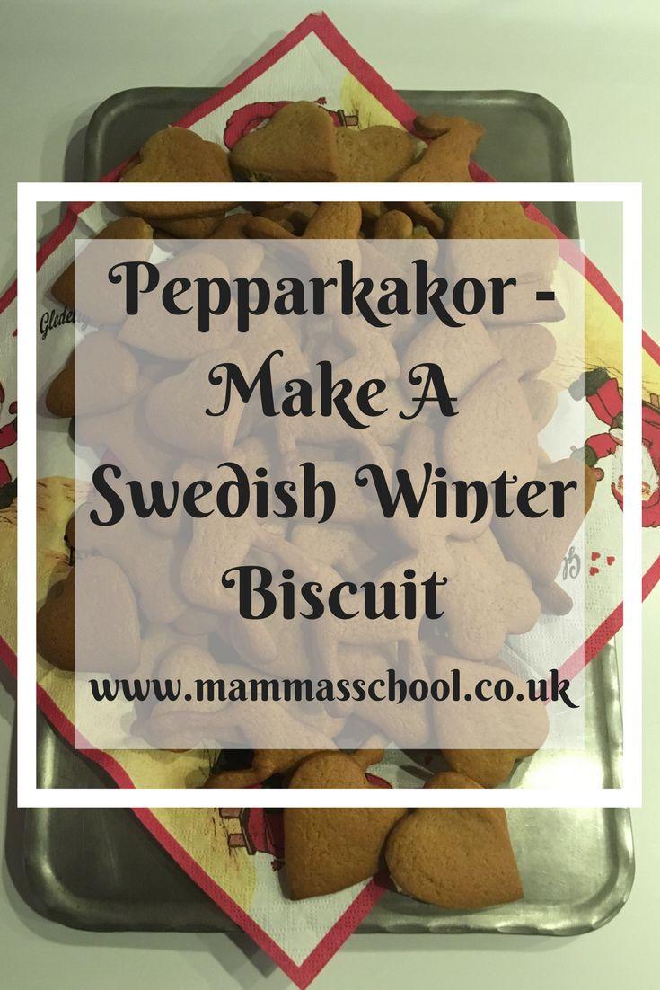 Peppakakor - Make A Swedish Winter Biscuit, Peppakakor, Ginger Biscuit, Biscuit, Swedish Biscuit, Christmas Biscuit, Swedish Food, www.mammasschool.co.uk