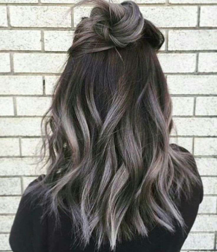 Grey ombre... I would do this in a second if I had dark brown hair
