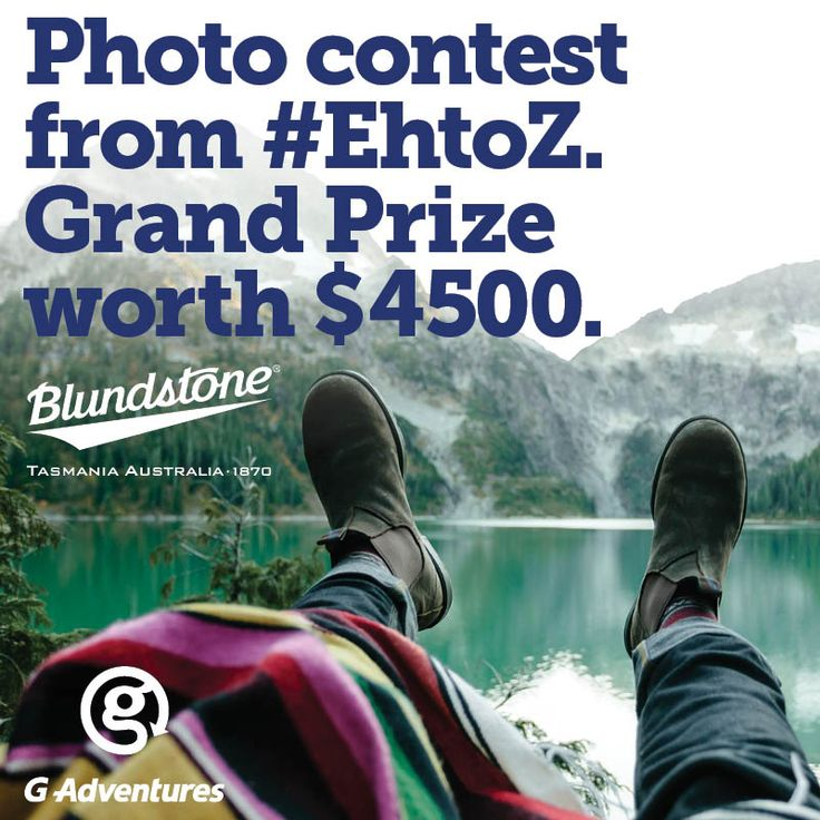 Enter the Blundstone Canadian Photo Contest from #EhtoZ. Grand prize is your own Canadian adventure plus cash and boots! 1. Tag your photo #EhtoZ on Instagram 2. Fill out a contest entry form at https://ehtoz.blundstone.ca/home Follow us on Instagram Blundstone CA for updates and contest progress. Visit https://ehtoz.blundstone.ca/home for all details and full rules and regulations. Good luck! Some great shots are coming in already!