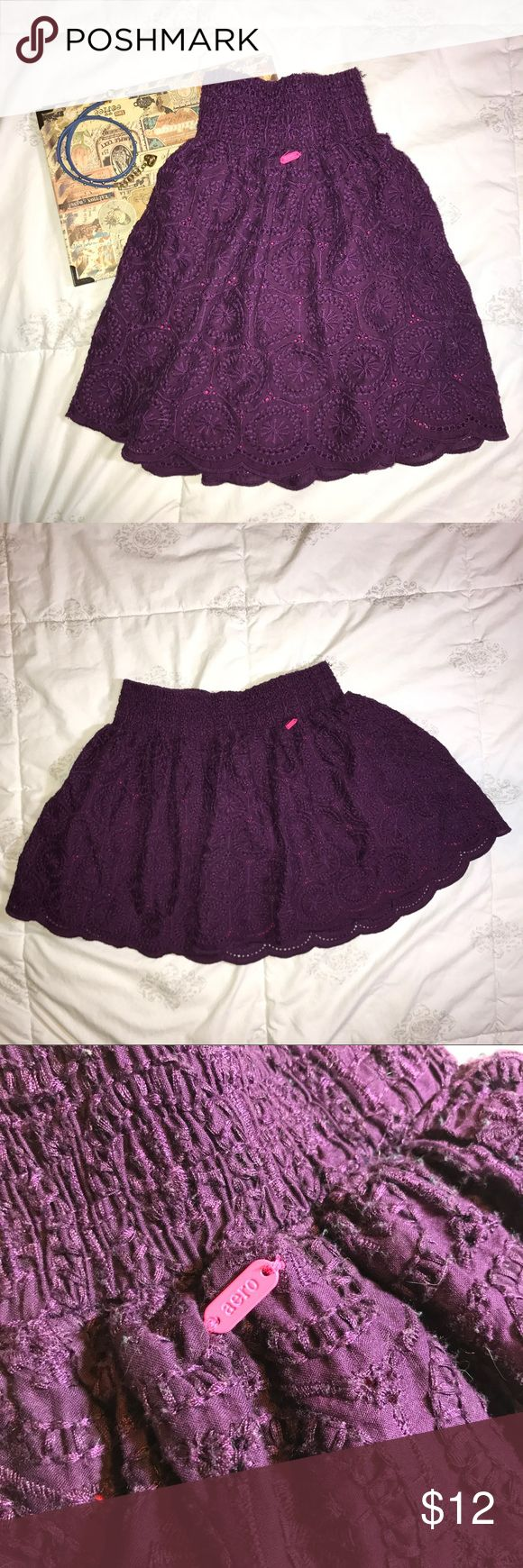 """❗️Final sale❗️Aeropostale mini dress ✨ Worn 2-3 times only! Long:13"""", and two layers. In good condition! Aeropostale Skirts Mini"""