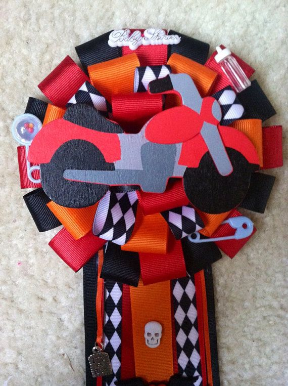 Motorcycle Baby Shower Mum On Etsy, $25.00