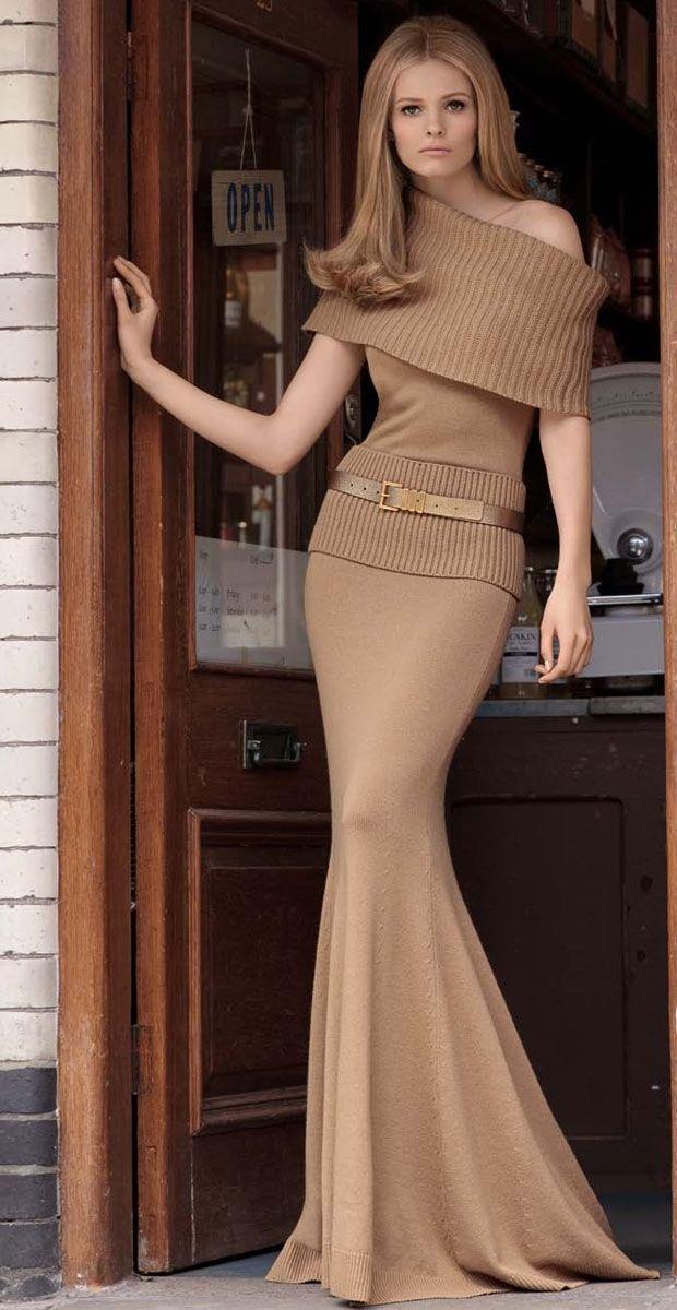 Full length knit dress by Michael Kors