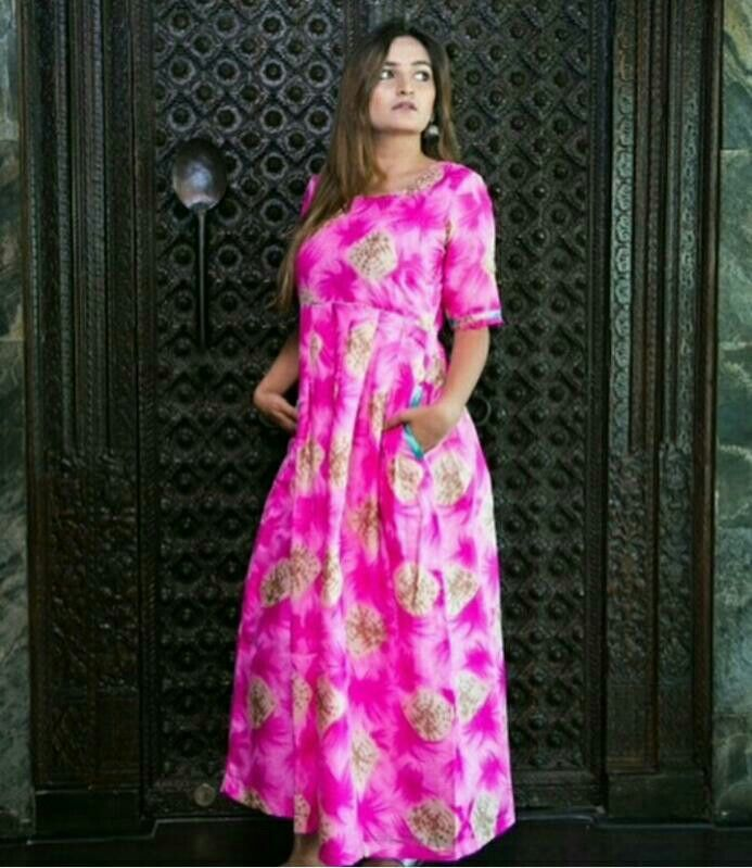 Pink Tye-Dye Maxi...Mumbai based..Delivery all over India and outside India.For details and bookings pls contact on 7400497020..FB link-https://www.facebook.com/Miar-Designs-1039717622785710/