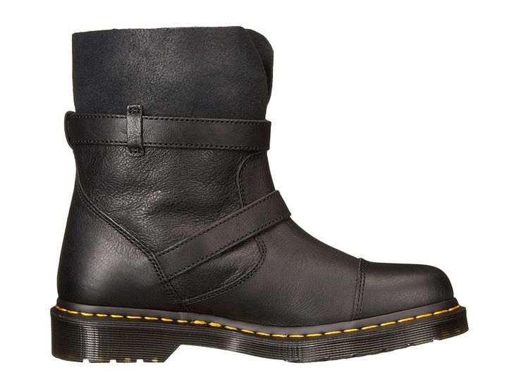 Dr. Martens Kristy Slouch Rigger Boot Women's Pull-on Boots Black/Virginia Darkend Suede