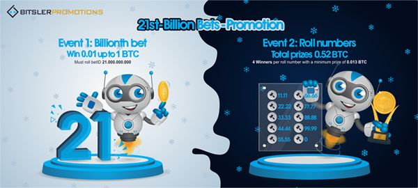 We will reach 21 billion bets soon, with 1.52 bitcoin ($20,800) in #prizes to be won!   #bitcoin #promotion #HappyNewYear 😎  Post your winning bets @ https://bitcointalk.org/index.php?topic=2673168.0 -- bitsler.com