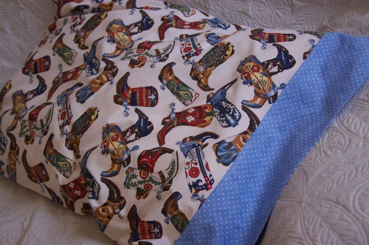 Those Boots are for Ridin'!  Pillow Case, Made by Kids 4 Kids, Charity Item by stitchemup on Etsy