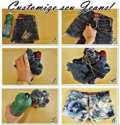 Faça você mesmo - Dicas e ideias de shorts customizados