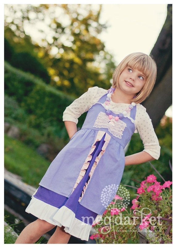 Rapunzel inspired Dress Up Costume Apron by rossandrosiedesigns
