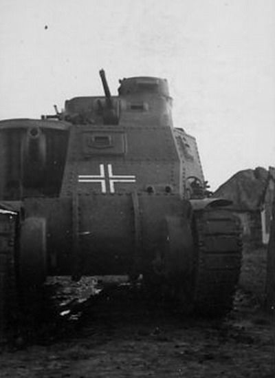 a american grant tank modified for use in german service including the commander copula