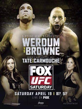 UFC on FOX 11: Werdum vs. Browne Ergebnisse - Results