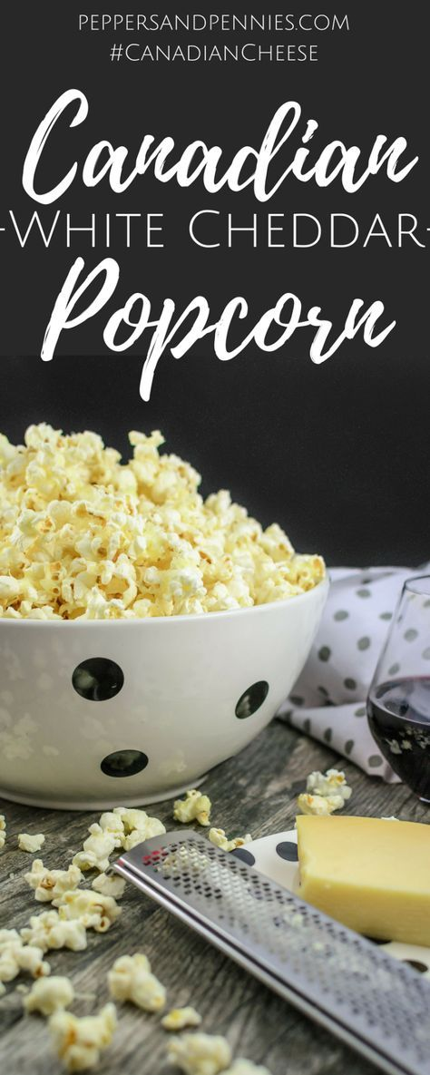 Easy White Cheddar Popcorn | Peppers and Pennies