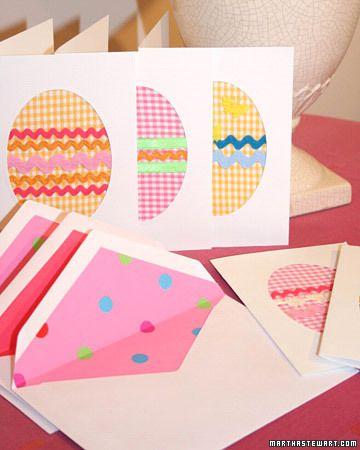 gingham handmade cards