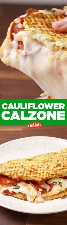 These low-carb Cauliflower Calzones taste just like pizza. Get the recipe from Delish.com.