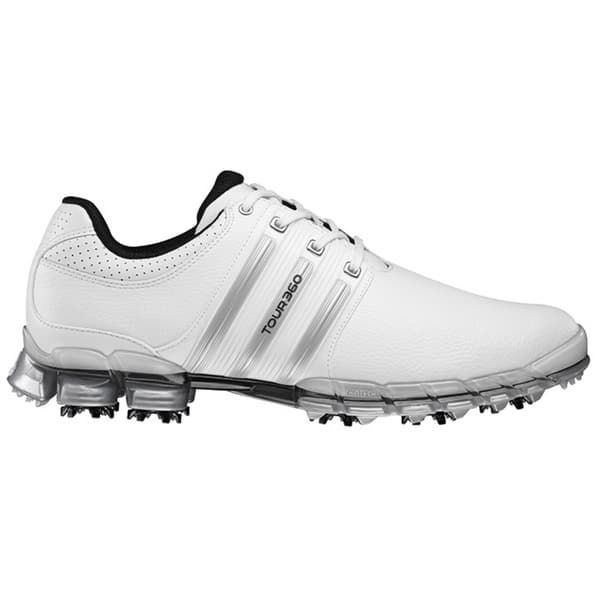 Adidas Men's Tour 360 ATV M1 White/ Metallic Silver Golf Shoes