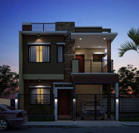 Rectangle Shape Exterior Design For Individual Home Exteriordesign Zen House Two