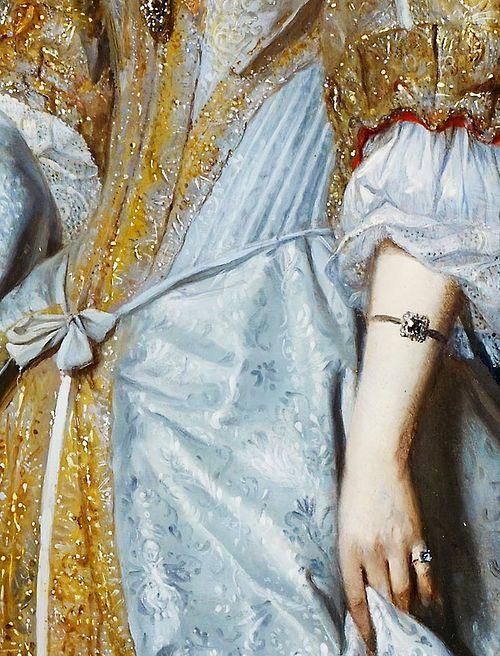 Gabriel Metsu. Detail from Portrait of a Lady, 1667. (via Pin by edain33 on Moody Blues | Pinterest)