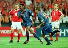 Holland 3 Denmark 0 in 2000 in Rotterdam. Patrick Kluivert breaks the deadlock on 57 minutes in Group D at Euro 2000.