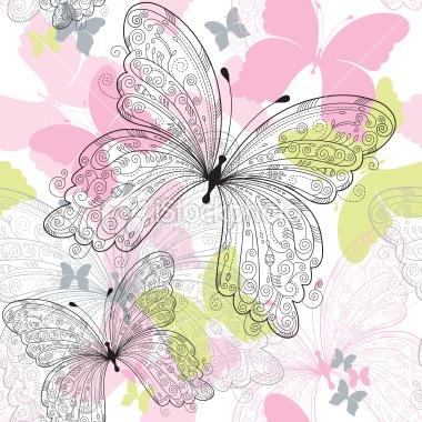 Pretty butterfly pattern