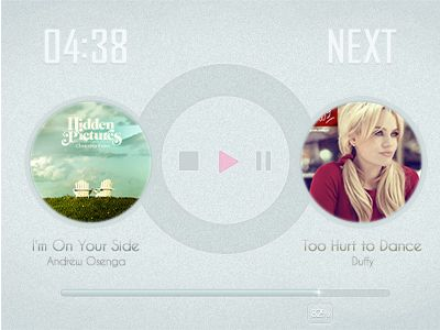 Dribbble - A Player UI by Mantou Lee
