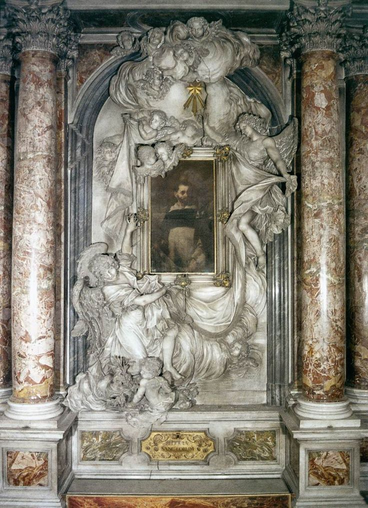MORLAITER, Giovan Maria, St Dominic Altar, Marble, Santa Maria del Rosario (Gesuati), Venice