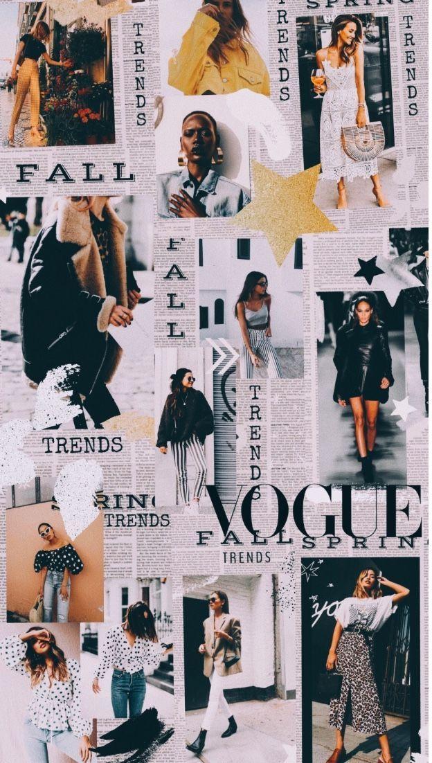 Style Vogue Fashion Wallpaper Vogue Wallpaper Fashion Collage