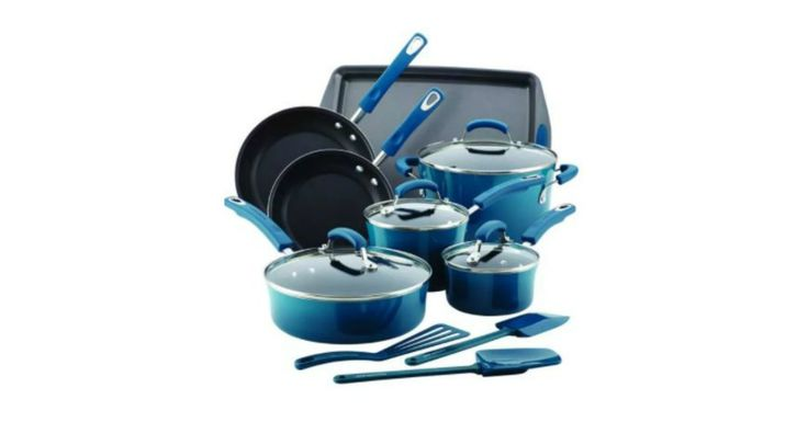 Rachael Ray Blue 14-pc. Hard Enamel Nonstick Cookware Set Giveaway! - http://gimmiefreebies.com/rachael-ray-blue-14-pc-hard-enamel-nonstick-cookware-set-giveaway/ #Contest #Sweeps #Sweepstakes #ad