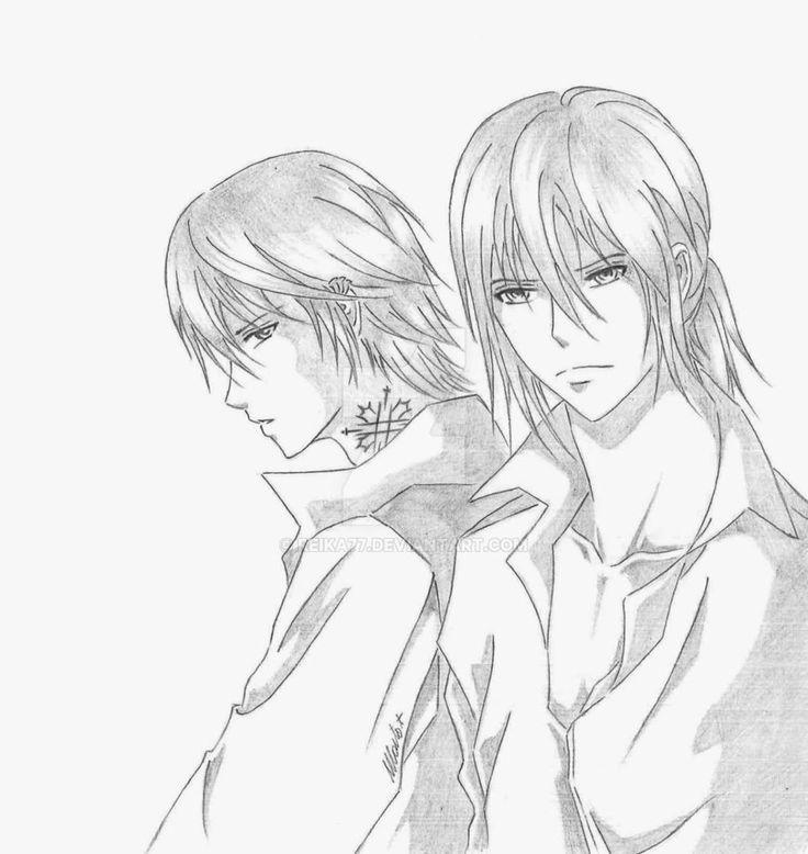 Twins by Reika77.deviantart.com on @DeviantArt #vampireknight #fanart #twins #kiryu #ichiru #zero #manga
