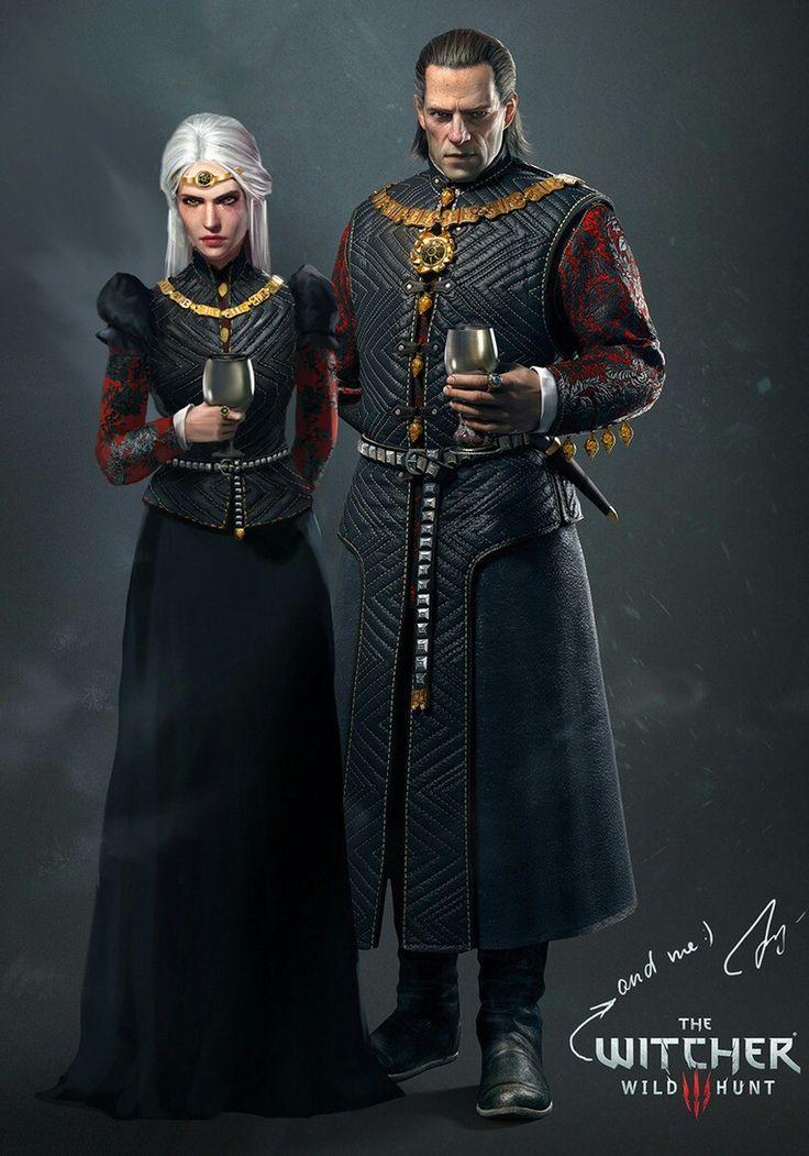 Cirilla & her father Emhyr var Emreis, Imperator of the Nilfgaardian Empire.