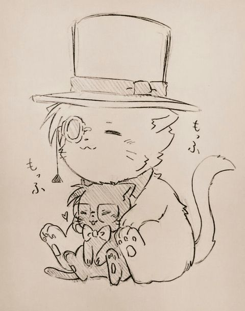 Neko version of kaito n Conan