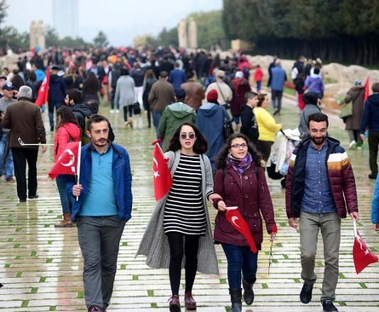 29EKİM2016 Cumhuriyet'in 93'üncü yıl dönümü nedeniyle Anıtkabir'e gitmek isteyenleri yağan yağmur, şehir içi ulaşımda çıkarılan sıkıntılar ve Anıtkabir'e çıkan yollara çekilen kamyonlar engelleyemedi.