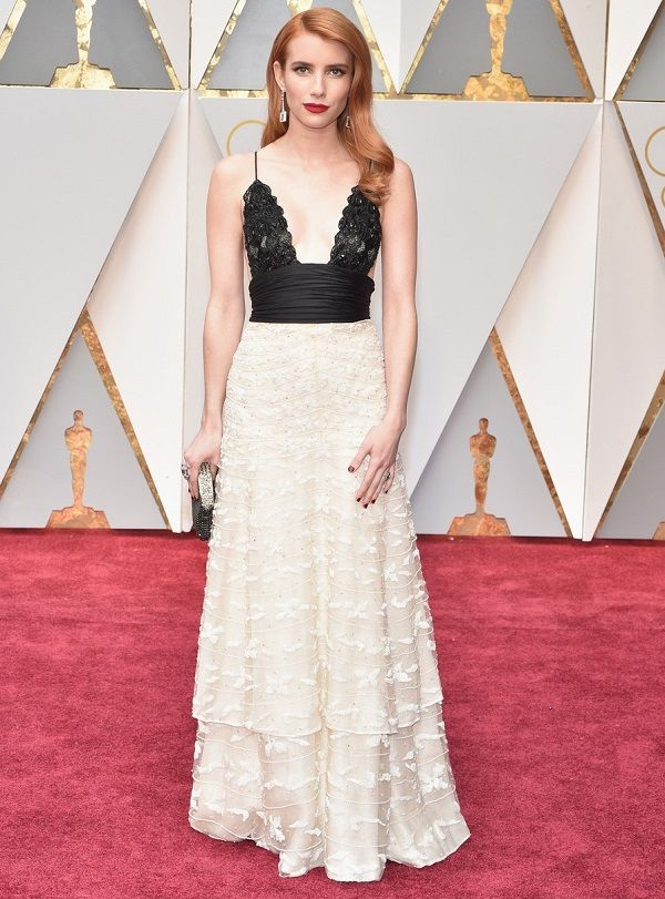 Emma Roberts in Armani at Oscars 2017, Эмма Робертс в Armani Оскар 2017