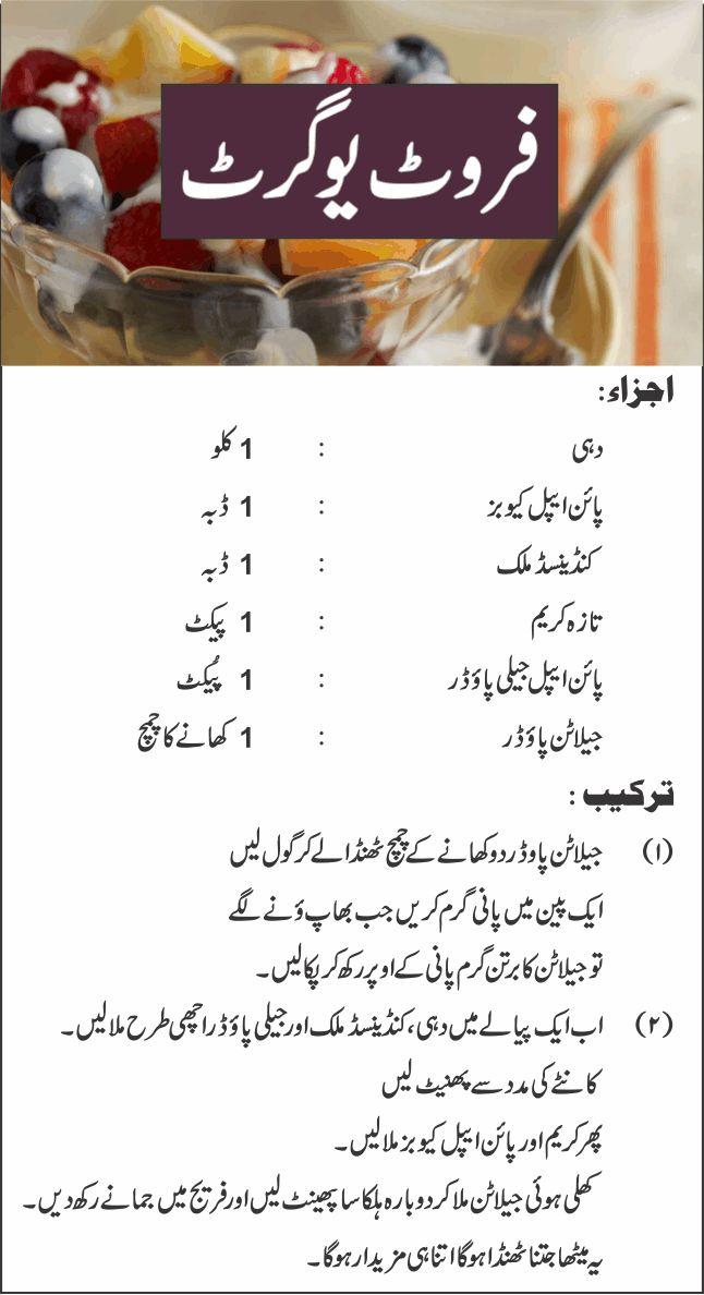 Fruit Yogurt Recipe | Recipes in Urdu