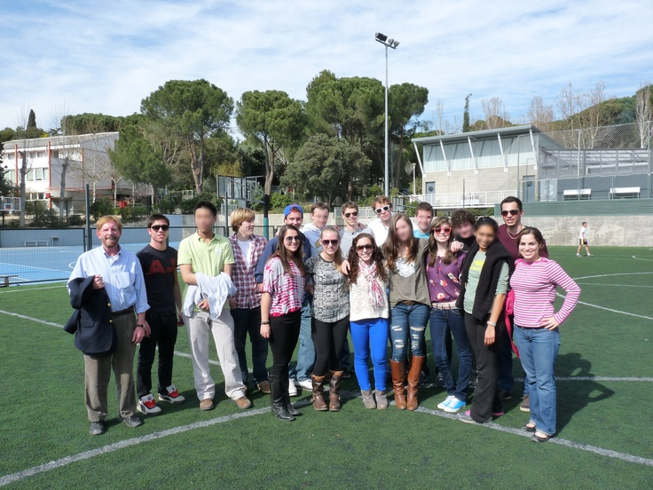 Students from the Shady Side Academy visiting Liceo Europeo. March 2012