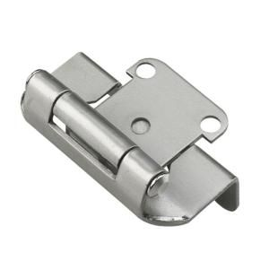 Hickory Hardware Surface Mounted Satin Nickel Self Closing Overlay Hinge 20 Pack Vp244 Sn The Home Depot Self Closing Hinges Overlay Hinges Satin Nickel