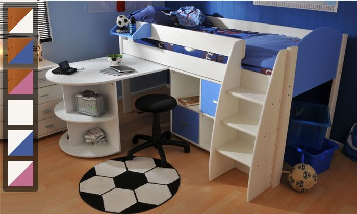 Stompa Rondo 6 mid sleeper cabin bed with pull out desk | The Home and Office Stores