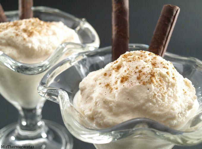Helado de leche merengada con avellanas - MisThermorecetas.com