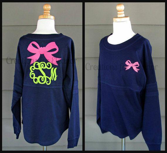 Girls Monogrammed Spirit Jersey by creationsforeleanor on Etsy, $45.00