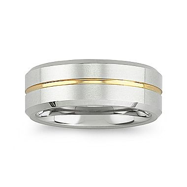 mens tungsten carbide ring 8mm comfort fit band jcpenney - Jcpenney Mens Wedding Rings