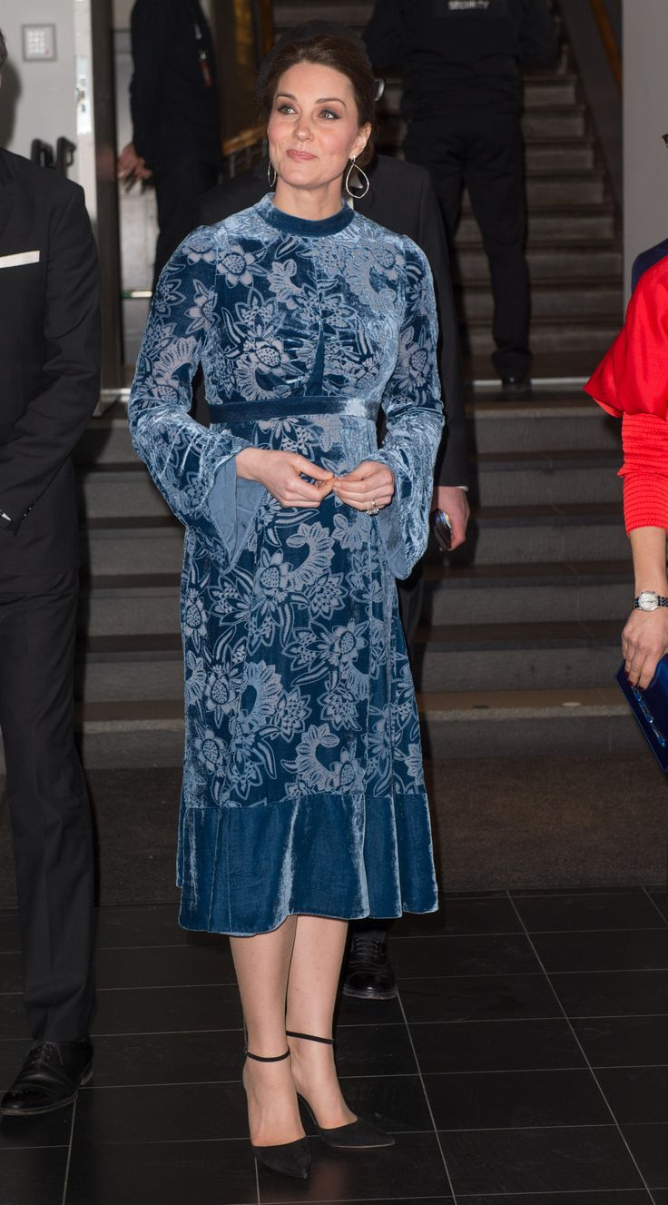 Pregnant Kate Middleton's Maternity Outfits Will Remind You of Her Engagement | Kate Middleton's maternity style is starting to mirror her engagement photos in a significant way. See her latest blue-filled look here.