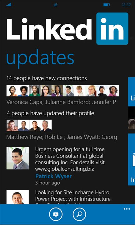 #linkedin app for Windows Phone #wp7 #wp7nl. Finally here!