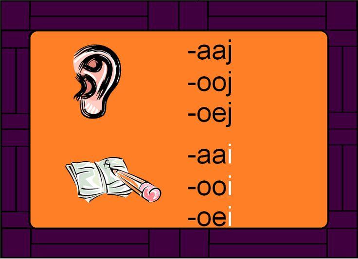 Spellingskaart -aai -ooi -oei
