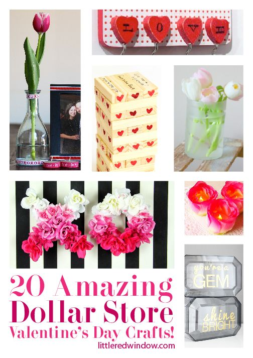 20 Amazing Dollar Store Valentine's Day Crafts